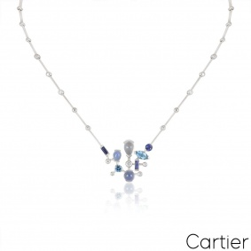 Cartier White Gold Meli Melo Necklace
